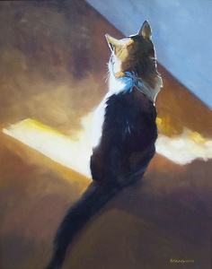 Sun Bath by Adele Earnshaw Oil ~ 20 x 16