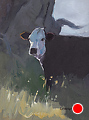 241 - Cow by Adele Earnshaw Oil ~ 7 x 5