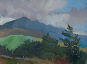 Clouds on the Tararuas by Adele Earnshaw Oil ~ 6 x 8