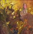Summer Bun by Adele Earnshaw Oil ~ 8 x 8