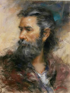 Working Man by Dan Beck Pastel ~ 12 x 9