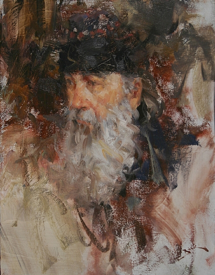 Zeke by Dan Beck Oil ~ 14 x 11