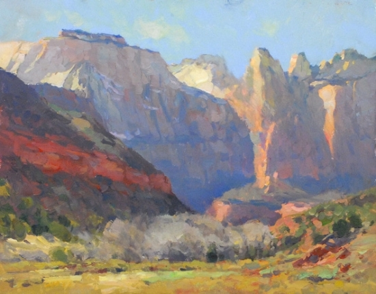 """Monumental Color"" by Kevin Macpherson Oil ~ 11"" x 14"""
