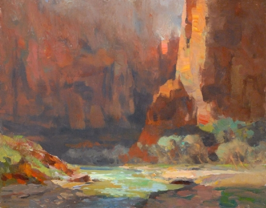 """""""Mystic Zion"""" by Kevin Macpherson Oil ~ 11"""" x 14"""""""