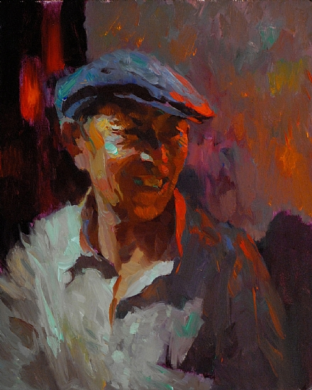 """Shanghai Nights"" by Kevin Macpherson Oil ~ 20"" x 16"""