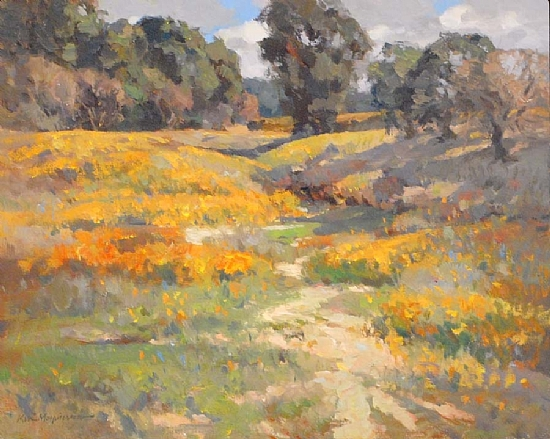 """A Wash of Gold by Kevin Macpherson Oil ~ 16"""" x 20"""""""