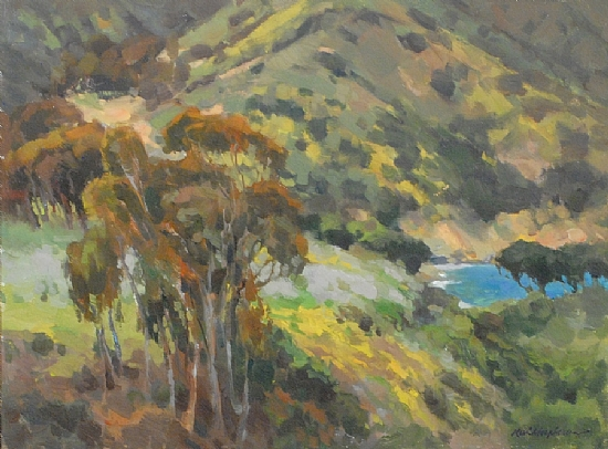 "Catalina Cove by Kevin Macpherson Oil ~ 12"" x 16"""