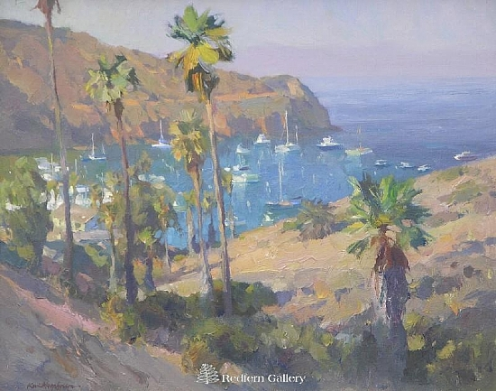 "Isthmus Palms by Kevin Macpherson Oil ~ 16"" x 20"""