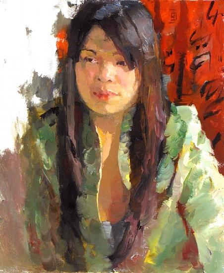 "Qian by Kevin Macpherson Oil ~ 20"" x 16"""