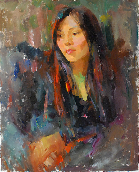"China girl 2 by Kevin Macpherson Oil ~ 20"" x 16"""