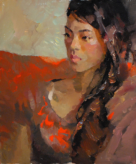 """China girl 4 by Kevin Macpherson Oil ~ 20"""" x 16"""""""