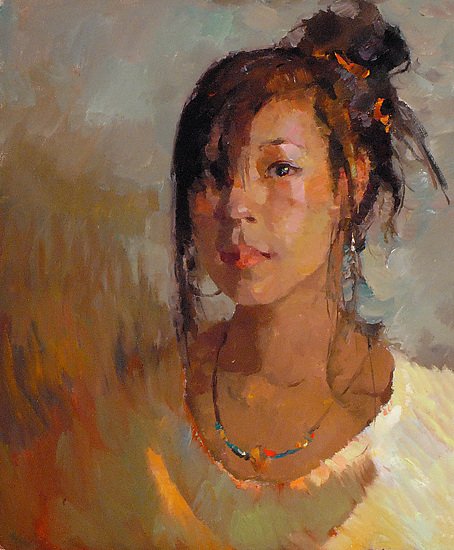 """Ava by Kevin Macpherson Oil ~ 20"""" x 16"""""""