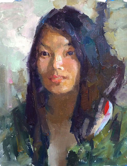 """china girl 6 by Kevin Macpherson Oil ~ 20"""" x 16"""""""