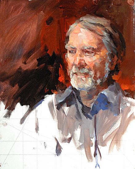 "Don Brackett by Kevin Macpherson Oil ~ 20"" x 16"""