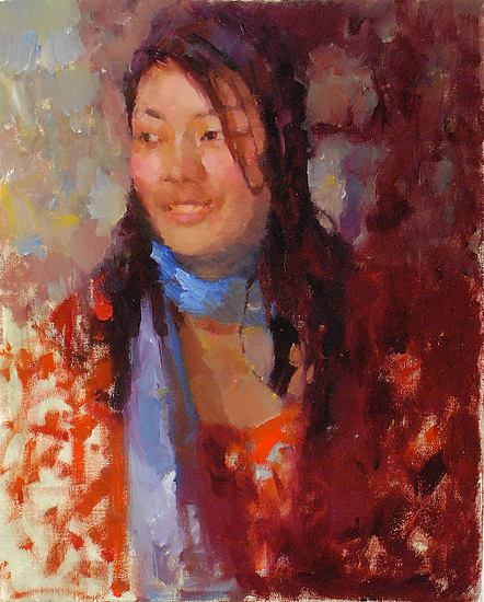 "Jing by Kevin Macpherson Oil ~ 20"" x 16"""