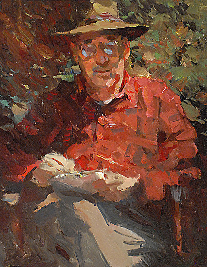 "Reading by Kevin Macpherson Oil ~ 20"" x 16"""