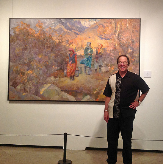 Kevin in front of his painting in Shanghai, April 2012, photo 2 by Kevin Macpherson  ~  x