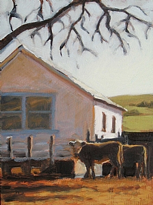"Winter Afternoon by Wendy Schwartz Oil ~ 8"" x 6"""