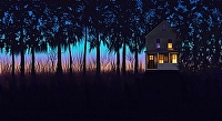 Twilight House by karen Chandler digital ~  x