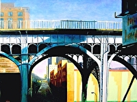 Bridge In Manhattan by karen Chandler Oil ~ 30 x 40