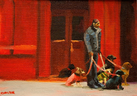 Dog Walker - Oil