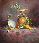 Blue bowl and Eucalyptus by David Riedel  ~ 20 x 16
