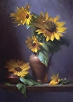 Sunflowers by David Riedel Oil ~  x
