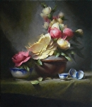 Peonies by David Riedel  ~ 24 x 21