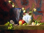 Libby's Vase by David Riedel Oil ~ 13 x 17