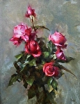 Roses Oil by David Riedel Oil ~ 18 x 14