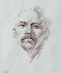 Portrait II by David Riedel Conte Crayon ~ 12 x 10
