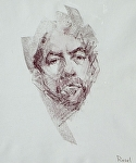 Portrait I by David Riedel Conte Crayon ~ 13 x 11