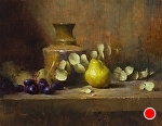 The Yellow Pear by David Riedel Oil ~ 11 x 14