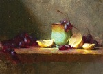 Cup and Lemons by David Riedel Oil ~ 8 x 11