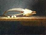 Goat Skull by David Riedel Oil ~ 14 x 18