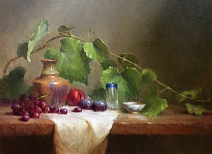 Grape Leaves by David Riedel Oil ~ 18 x 25