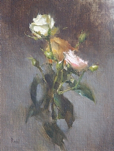 Roses by David Riedel Oil ~ 12 x 9