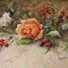 Peach Rose and Berries