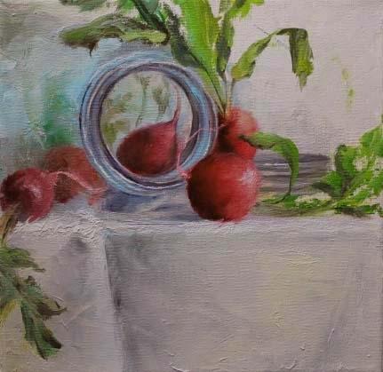 Garden Fresh by susan hong-sammons Oil ~ 8 x 8