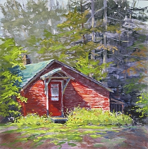 "Cottage Tales by Lisa Stauffer Soft Pastel With Watercolor Underpainting ~ 12"" x 12"""