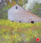 "Glow- Gibb's Farm by Lisa Stauffer Soft Pastel With Watercolor Underpainting ~ 9"" x 9"""