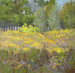 Golden Prairie by Lisa Stauffer Pastel ~ 9 x 9