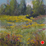 Prairie by Lisa Stauffer Pastel With Watercolor Underpainting ~ 6 x 6