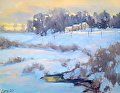 Winter Gold by Barbara Lussier Oil ~ 16 x 20