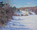 Winter Shadows by Barbara Lussier Oil ~ 20 x 24