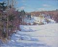 Winter Shadows by Barbara Lussier Oil ~ 20 x 24