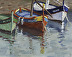 Collioure Boats by Joan Murray Oil ~ 8 x 10