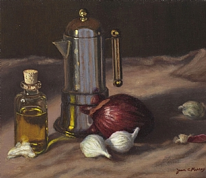 Oil and Onions by Joan Murray Oil ~ 10 x 12
