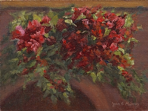 Bougainvillea by Joan Murray Oil ~ 6 x 8