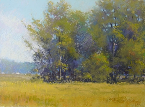Morning  At The Flats - Pastel